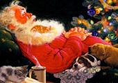 Père Noël prend des forces...