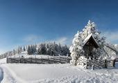 Puzzle Ciel bleu et neige