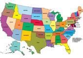 carte états américains