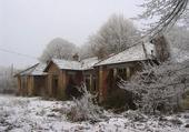 ruines sous la neige
