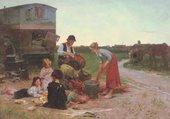 Famille fabricant de paniers