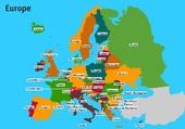 carte des pays d'Europe