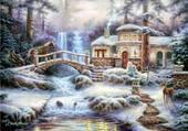 Puzzle Cascade hivernale