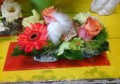 Joli centre de table de fleurs