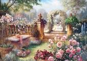 Puzzle Le jardin des roses