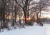 Coucher de soleil à Bellefontaine