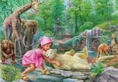 Puzzle Martine au Zoo