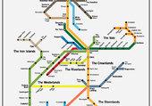 Metro Map of Westeros