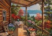 la terrasse de ma cabane