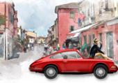 Porsche 911 rouge