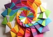 Origami en rosace