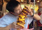 Hamburger, serviette fournie
