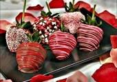 Fraises chocolatées