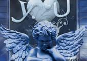 Puzzle un ange en or bleu