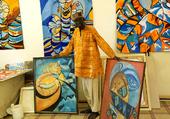 Puzzle Artiste et ses tapisseries