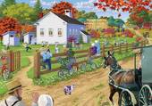 Puzzle Village amish