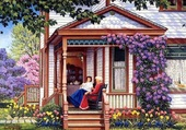 Thé sur la terrasse