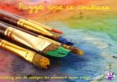 Pinceaux couleurs peintre
