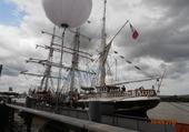 le Belem à quai : BORDEAUX  en 2012