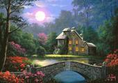 Maison au clair de lune