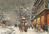 Rue Royale sous la neige