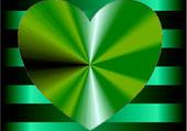 Coeur ton sur ton vert