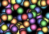 Puzzle fractale multicolore
