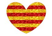 Coeur cataln paillettes