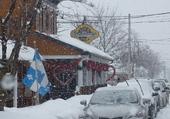 Dans la neige à Saint-Joseph-du-Lac.