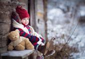 Nounours et moi en hiver