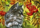 Puzzle le chat dans le cerisier