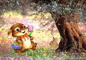 Puzzle recherche des oeufs de Pâques