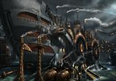Bateau steampunk