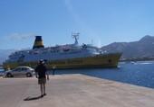Arrivée du ferry à Calvi
