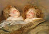 Les deux chérubins endormis