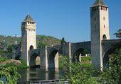 Le Pont Valenté à Cahors (Lot)