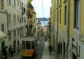 Un funiculaire à Lisbonne
