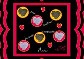 Coeur de terre Rose Noir