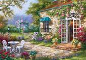 jolie maison fleuri