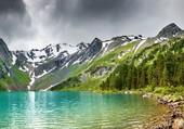 Lac et glacier