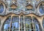 façade de maison à Barcelonne