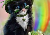Puzzle chat de la Saint Patrick