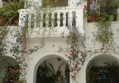 façade fleurie à Lanjaron