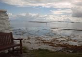 une plage sur l'île de Uist
