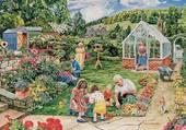Puzzle Jardinage avec Papy