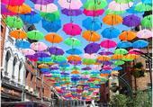 Puzzle umbrella sky project