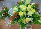 Composition originale de fleurs