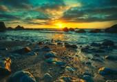 Couché de soleil sur la plage
