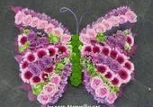 Superbe papillon de fleurs