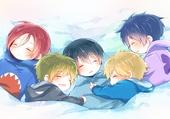 Chibis de Haru et ses amis qui dorment